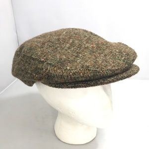 Vintage Paperboy Newsboy Wool Brown Hat